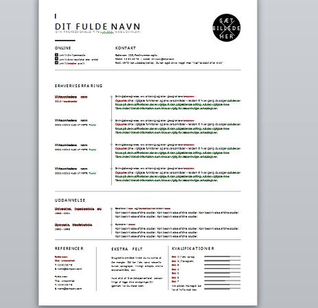 CV skabelon - Version1 - TechParken.dk