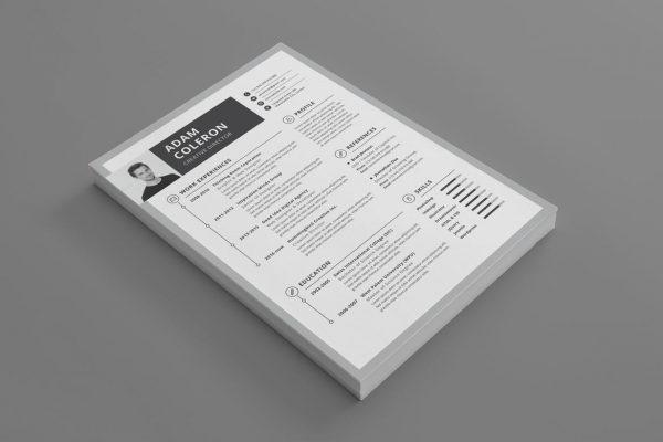 CV og ansøgnings skabelon der matcher